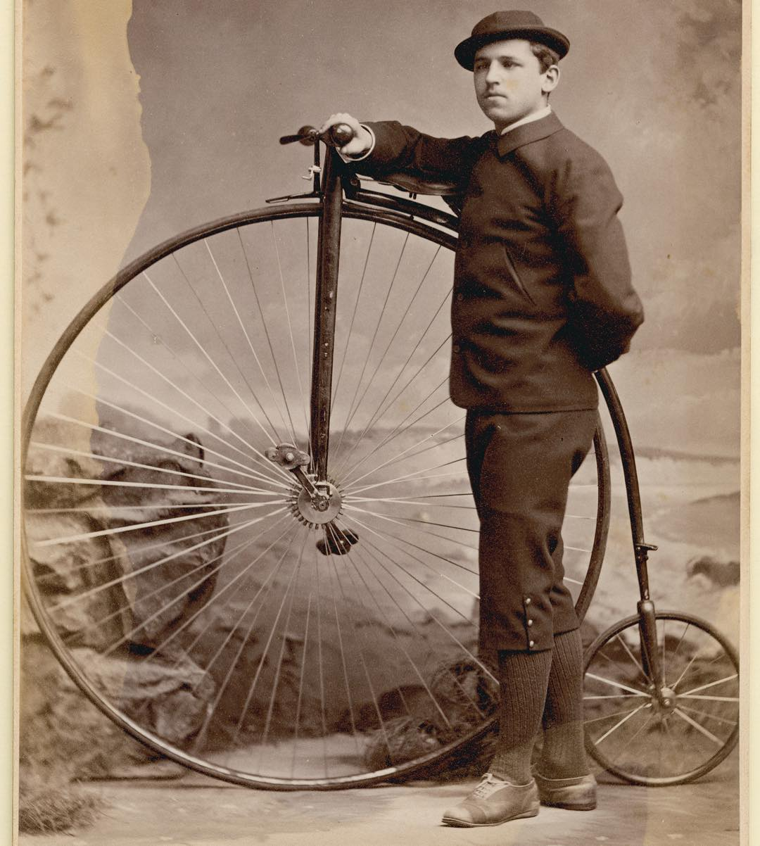Here is a cabinet card portrait of William Dwight Chandler, a St. Paul's School student from 1875-1881, for #throwbackthursday . A few years after graduating he became the publisher of the Concord Monitor and later in life was the Postmaster of Concord, NH. He is shown here with his high wheel bicycle – a very popular item at SPS during that time. #ohrstromlibrary #ohrstromlibrarydigitalarchives #spshistory #iamsps #throwback #tbt #pennyfarthing #highweel #bicycle #highwheelbicycle #williamdwightchandler #formof1880 #concordnh #concord #concordmonitor @concordmonitor #postmaster #cabinetcard #kimballstudio