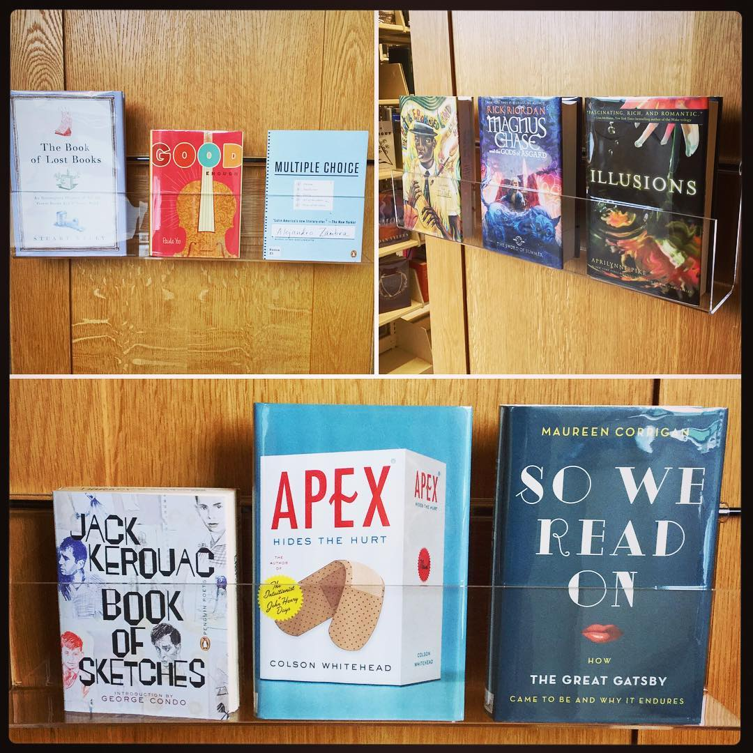 Have a look at our book shelf end displays in the stacks on the main level and discover some of the great books from our shelves! #ohrstromlibrary #shelfie #bookdisplay #collection #treasures #bookstacks #goodbooks #bookstagram #iamsps