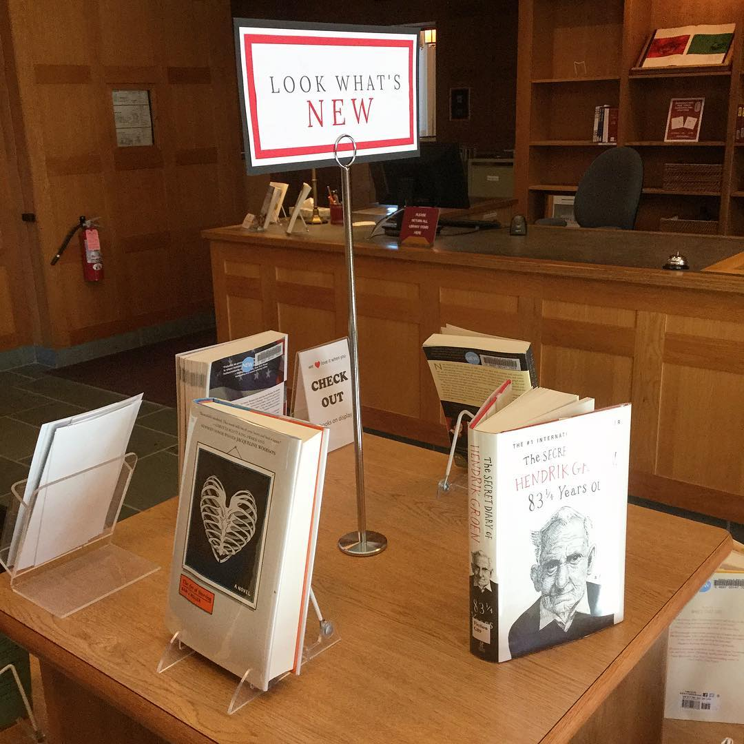 Look what's new! New books on the new display in the main level lobby of Ohrstrom Library. Check it out and check something out today! #ohrstromlibrary #newbooks #bookdisplay #newbookdisplay #checkitout #iamsps
